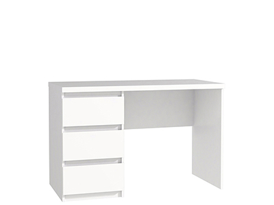 Desk With Drawers Colours: Light Oak With White Drawers And All White W 110  X D 52.7 X H 72.2 Cm