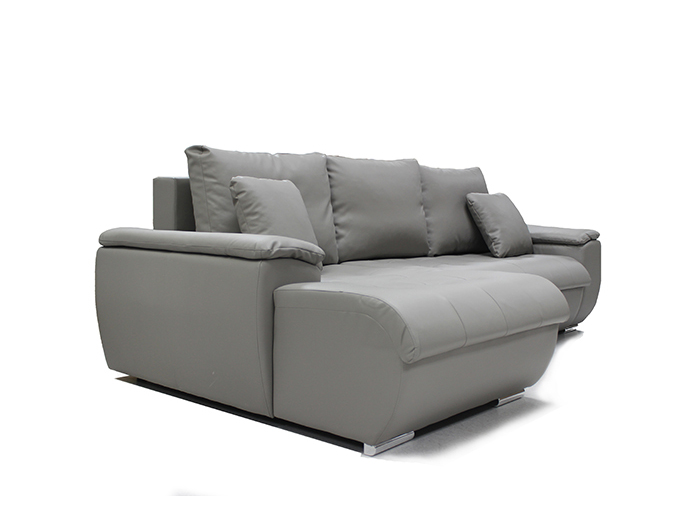 Furniture Sofas Flower Grey Corner Sofabed Chaise Lounge