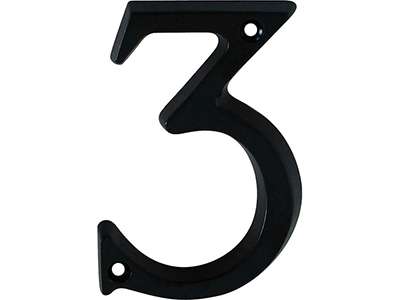 hardware-shelf-systems/door-numbers/black-aluminium-number-3-house-number-97mm