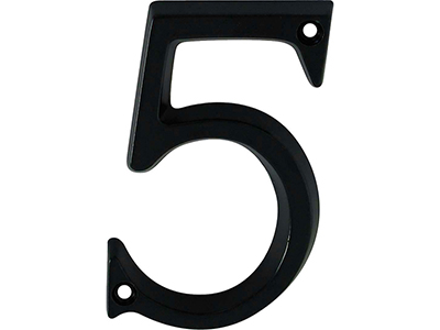 hardware-shelf-systems/door-numbers/black-aluminium-number-5-house-number-97mm