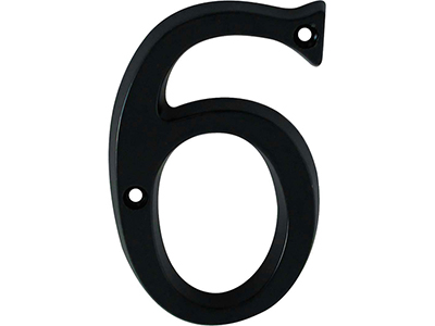 hardware-shelf-systems/door-numbers/black-aluminium-number-6-house-number-97mm