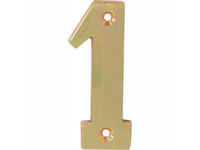 hardware-shelf-systems/door-numbers/polished-brass-number-1-house-number-65mm