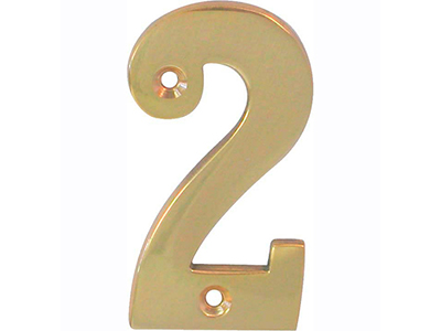 hardware-shelf-systems/door-numbers/polished-brass-number-2-house-number-65mm