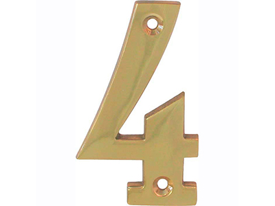 hardware-shelf-systems/door-numbers/polished-brass-number-4-house-number-65mm