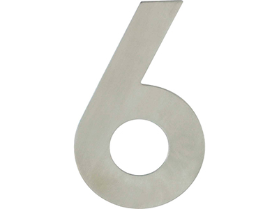 hardware-shelf-systems/door-numbers/inox-number-6-house-number-120mm