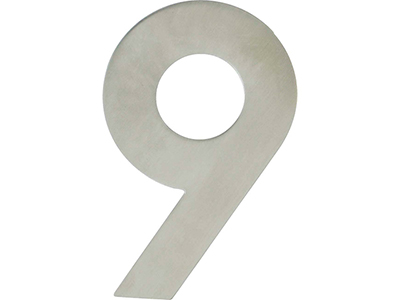 hardware-shelf-systems/door-numbers/inox-number-9-house-number-120mm