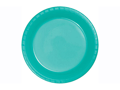 dinnerware/party-items/lagoon-teal-plastic-dinner-plate