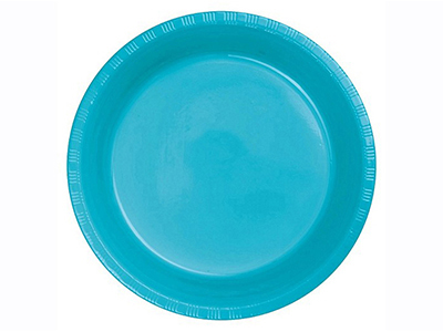 dinnerware/party-items/bermuda-blue-plastic-dinner-plate
