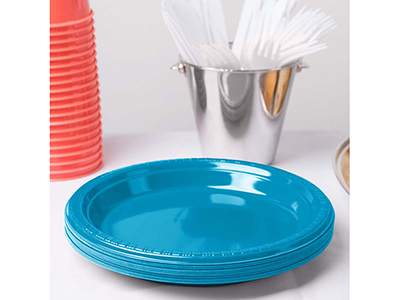 dinnerware/party-items/turquoise-plastic-dinner-plate