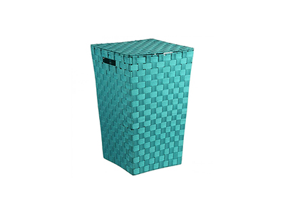 bathrooms/laundry-bins-baskets/turquoise-woven-laundry-basket