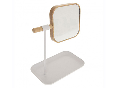 bathrooms/shaving-mirrors/natureo-white-mirror-with-removable-stand
