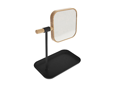 bathrooms/shaving-mirrors/natureo-black-mirror-with-removable-stand