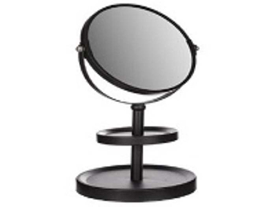bathrooms/shaving-mirrors/black-metal-mirror-with-2-holders