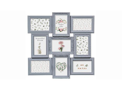 art-decor/wood-frames/romance-grey-plastic-collage-frame-for-9-photos