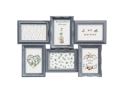 art-decor/wood-frames/romance-grey-plastic-collage-frame-for-6-photos