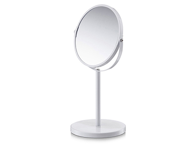 bathrooms/shaving-mirrors/zeller-white-metal-cosmetic-mirror