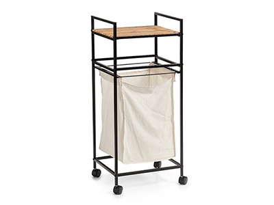 bathrooms/laundry-bins-baskets/zeller-bamboo-and-metal-laundry-basket-with-wheels