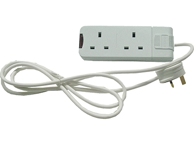lighting/trailing-extension-sockets/white-3-meters-2-way-extension-lead-cable