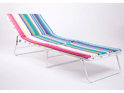 Outdoor Alu Metal Furniture Atena Padded Sunbed Striped 4