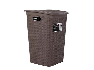 bathrooms/laundry-bins-baskets/elegance-taupe-plastic-laundry-basket-50-litres