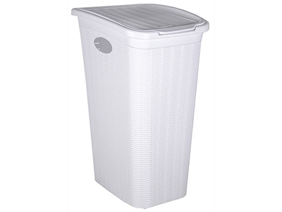 bathrooms/laundry-bins-baskets/elegance-white-laundry-bin-36-litres