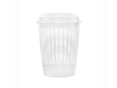 bathrooms/laundry-bins-baskets/white-netted-laundry-bin-with-lid