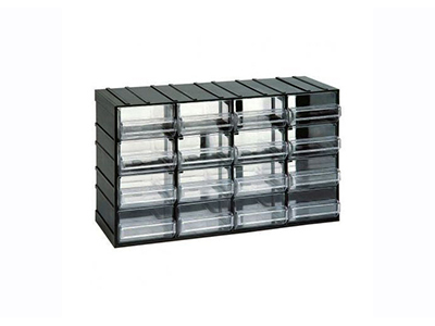 hand-tools/tool-boxes-storage-organisers/plastic-storage-unit-with-16-transparent-drawers