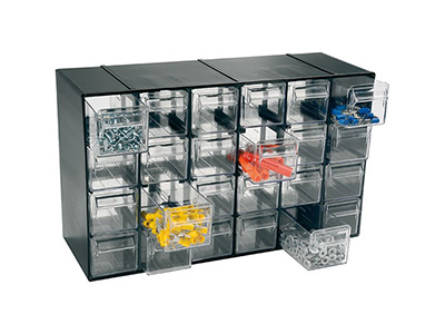 hand-tools/tool-boxes-storage-organisers/plastic-modular-unit-with-24-drawers