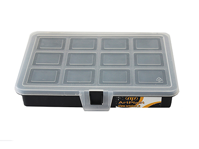 hand-tools/tool-boxes-storage-organisers/plastic-transparent-organizer-with-12-compartments