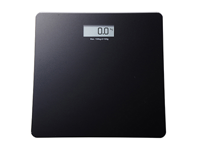 bathrooms/bath-weighing-scales/black-glass-personal-bathroom-scales-with-lcd-screen-150-kg