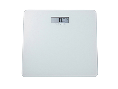 bathrooms/bath-weighing-scales/white-glass-personal-bathroom-scales-with-lcd-screen-150-kg