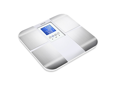 bathrooms/bath-weighing-scales/sencor-silver-and-white-personal-fitness-scale-with-bmi