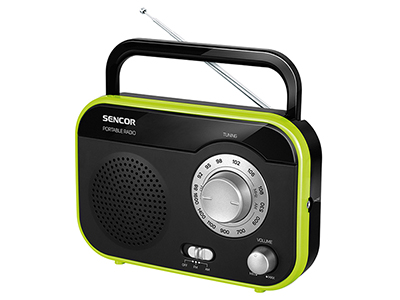 electronics/portable-speakers-radios-stereos/sencor-black-and-green-portable-radio
