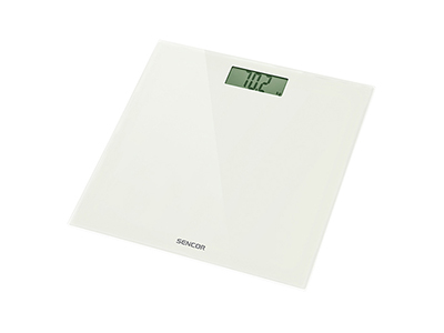 bathrooms/bath-weighing-scales/sencor-white-glass-bathroom-scales-150-kg