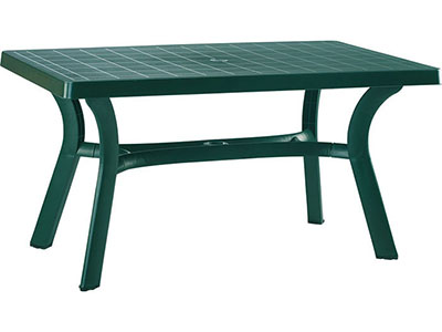 Roma Green Rectangular Resin Table