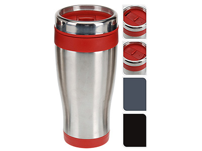 kitchenware/vacuum-flasks/excellent-houseware-thermal-travel-mug-with-lid-3-assorted-colours