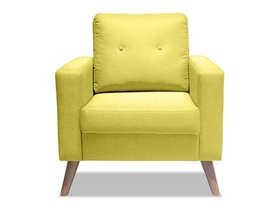 Furniture Living Alvin 1 Seater Sofa Yellow