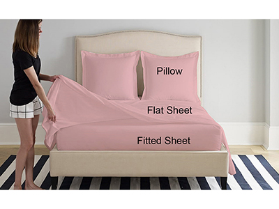 textiles-linen/sheets-pillow-cases-pillows/prestige-powder-pink-cotton-king-bed-sheets-set