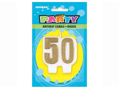 dinnerware/party-items/gold-birthday-candle-number-50